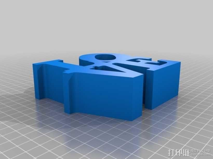 love字母块 3D模型  图1