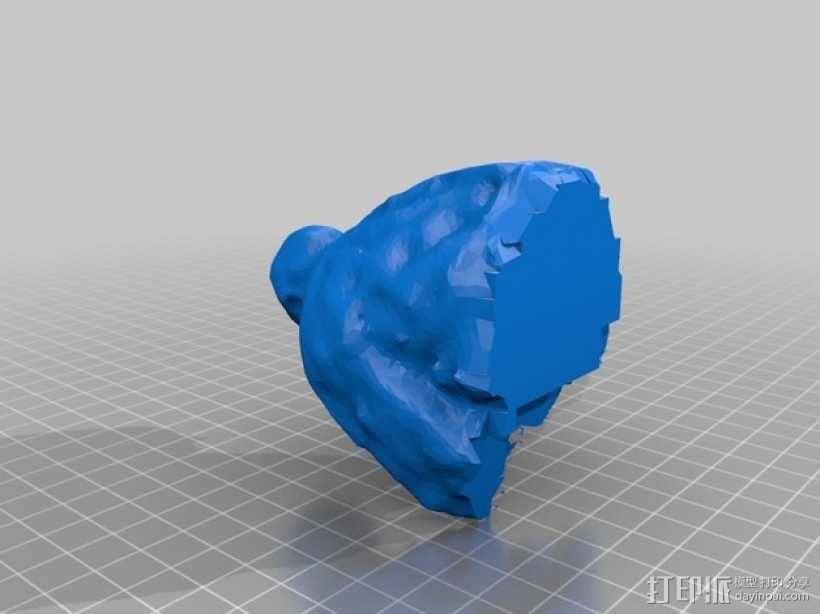 Turner博士半身像雕塑 3D模型  图3