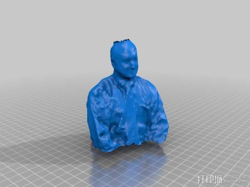 Turner博士半身像雕塑 3D模型  图4
