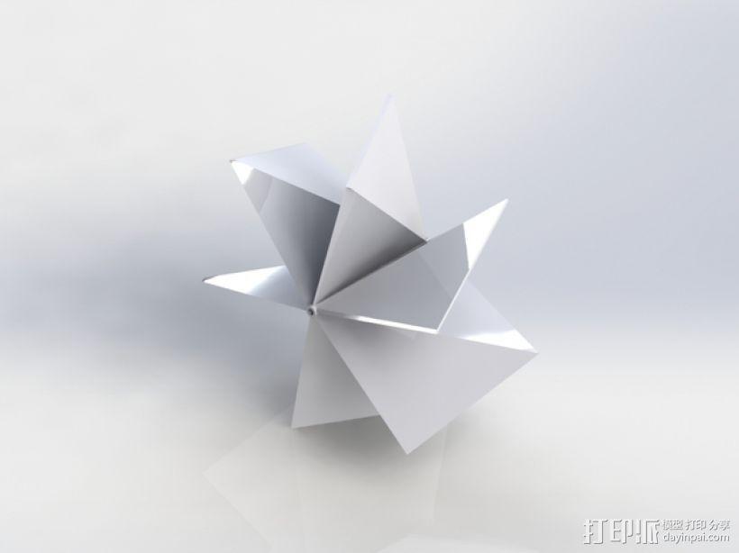 几何形螺旋浆 推进器 3D模型  图1