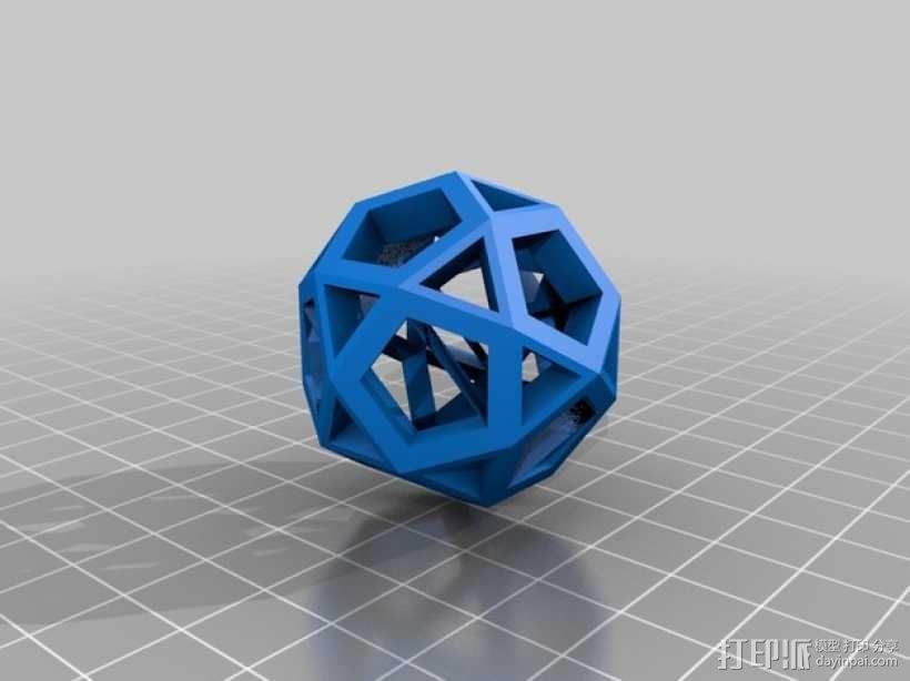 截半二十面体  3D模型  图1