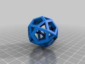 截半二十面体  3D模型