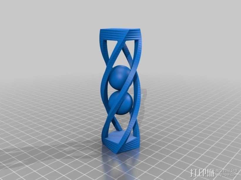 扭曲的笼子和小球 3D模型  图1