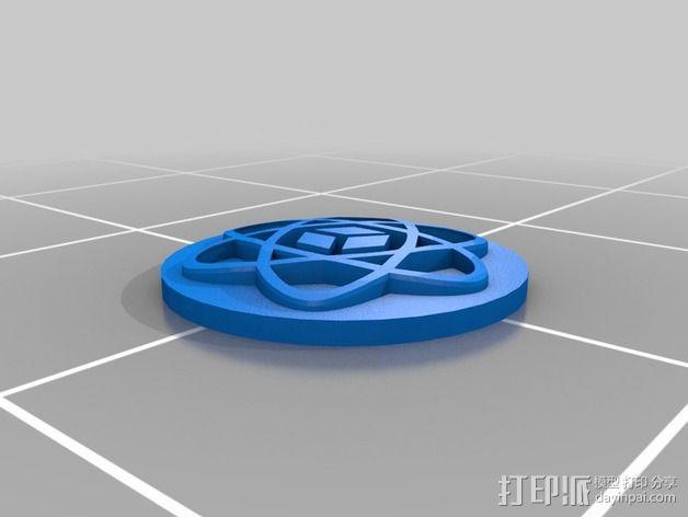 黑客空间标志 3D模型  图2