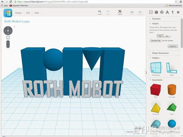 Roth Mobot标志 3D模型  图1