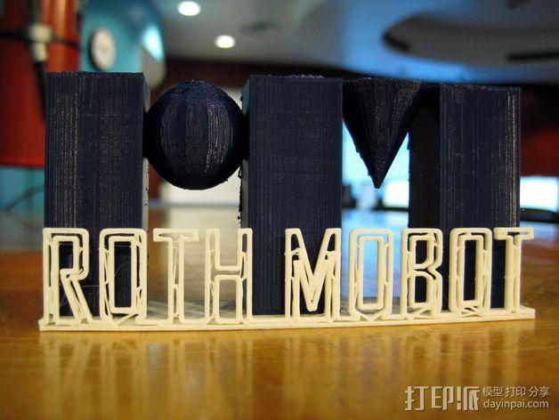 Roth Mobot标志 3D模型  图3