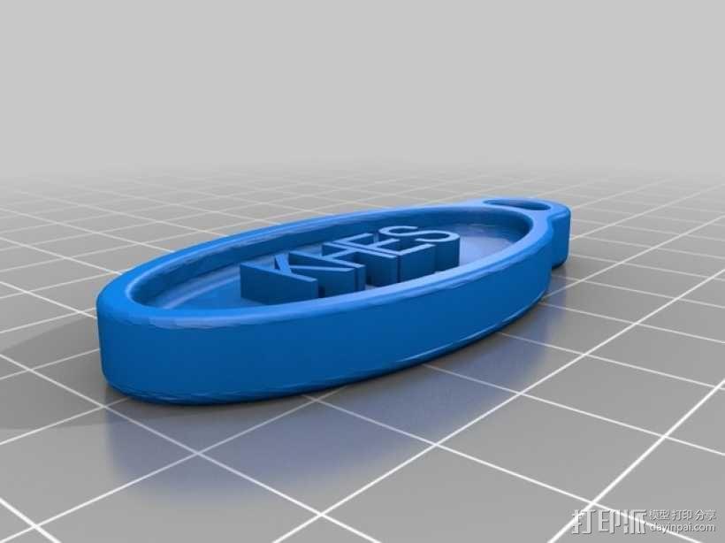 KHES 3吊坠 标志  3D模型  图1