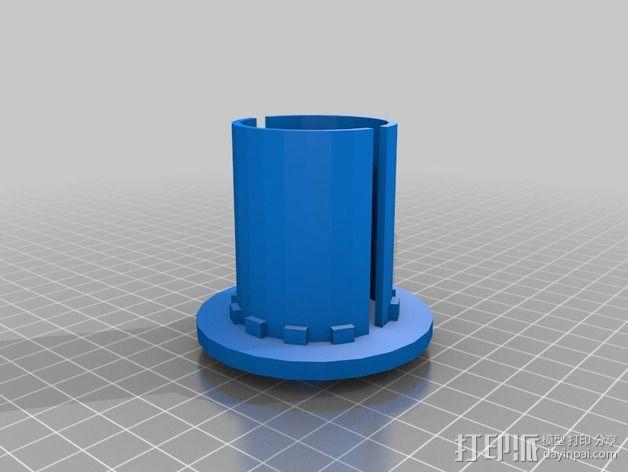 大礼帽连接器 3D模型  图2