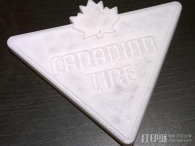 Canadian Tire加拿大轮胎公司标志 3D模型  图1