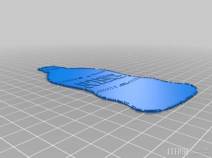 苏打水瓶冰箱贴 3D模型  图1