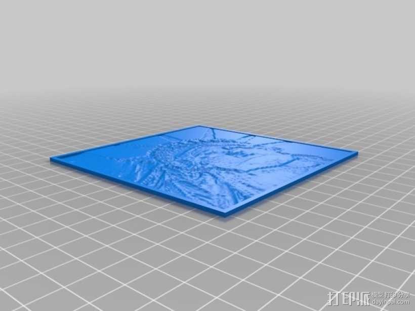 自由女神像透光浮雕 3D模型  图1