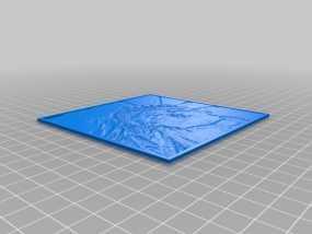 自由女神像透光浮雕 3D模型