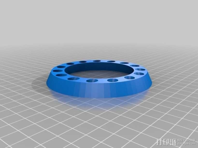 参数化圆环笔筒 笔架 3D模型  图1