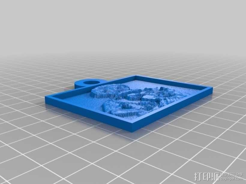 透光浮雕 3D模型  图1
