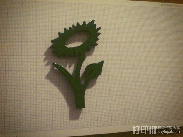 花形标志 3D模型  图3