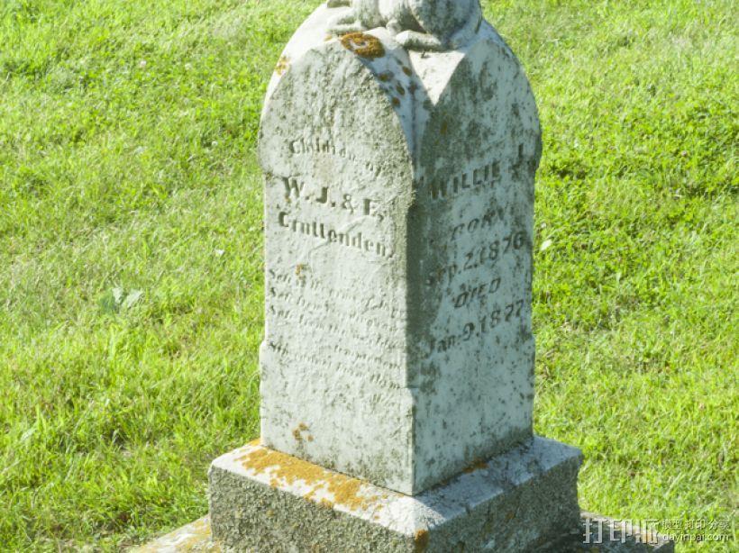 墓碑 3D模型  图1