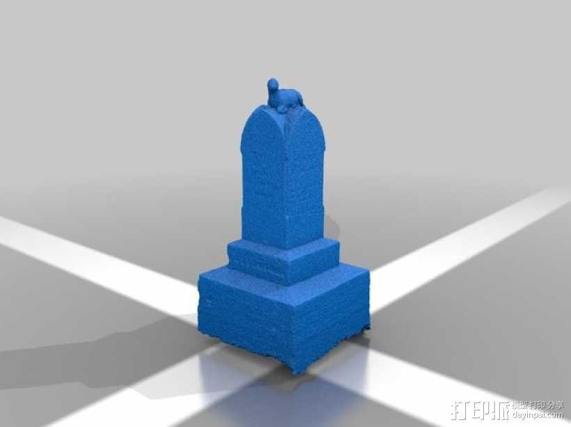 墓碑 3D模型  图2