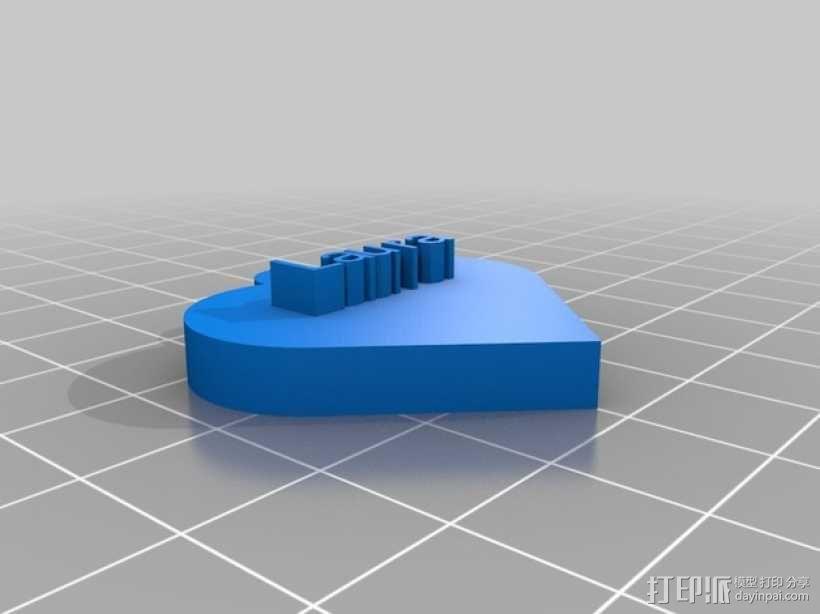 Laura爱心 3D模型  图1