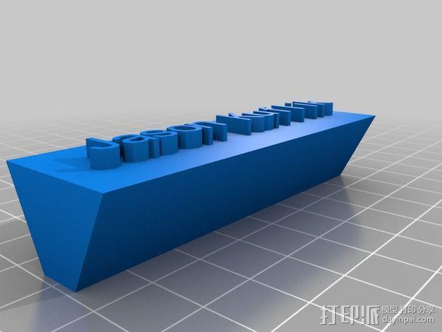 Jason名牌 标志 3D模型  图3