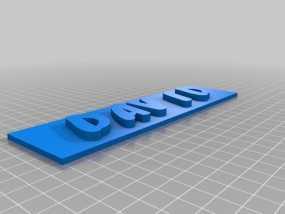 名牌 标签 3D模型