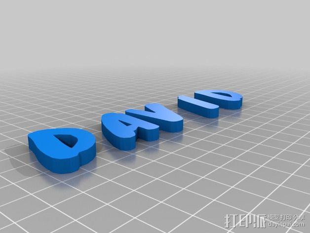 名牌 标签 3D模型  图2