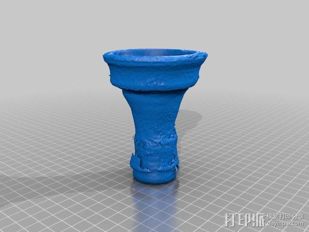 埃及水烟碗模型 3D模型  图2