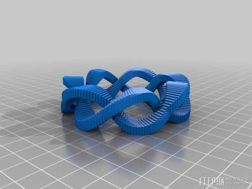 双曲线圆环 3D模型  图1
