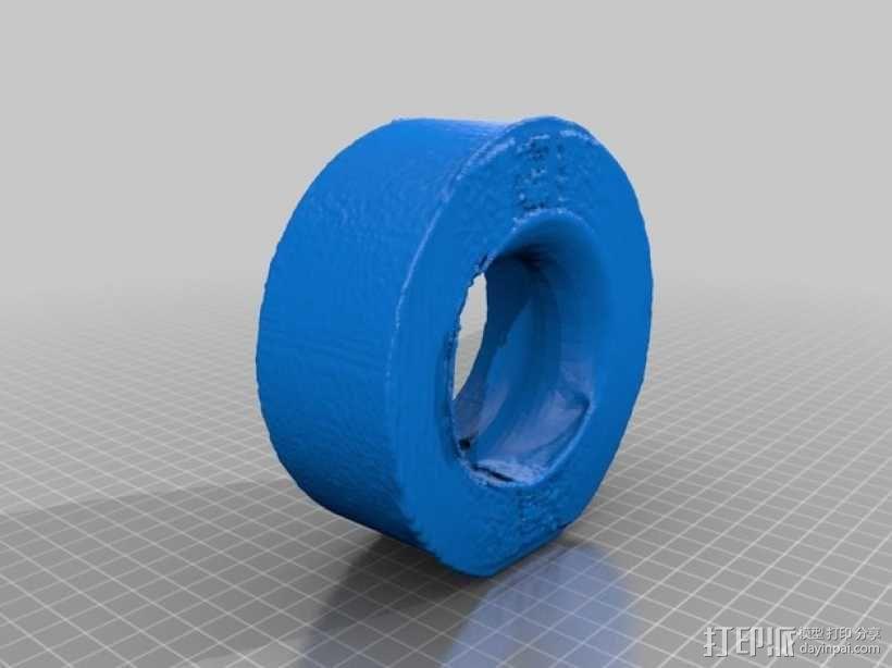 胶带圈 胶带模型 3D模型  图2