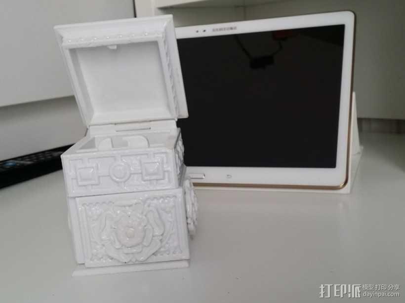 复古小方盒 3D模型  图1
