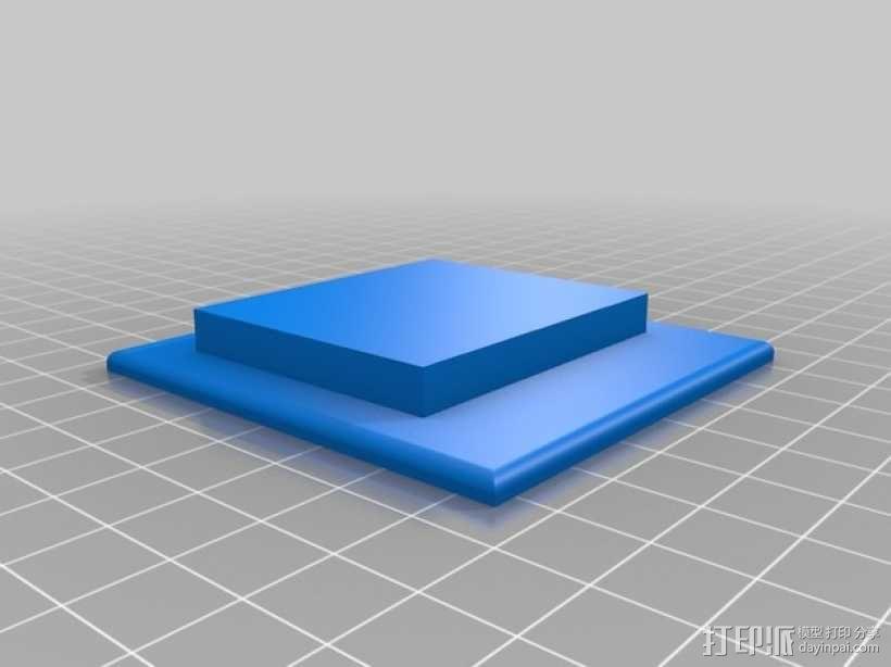 复古小方盒 3D模型  图2