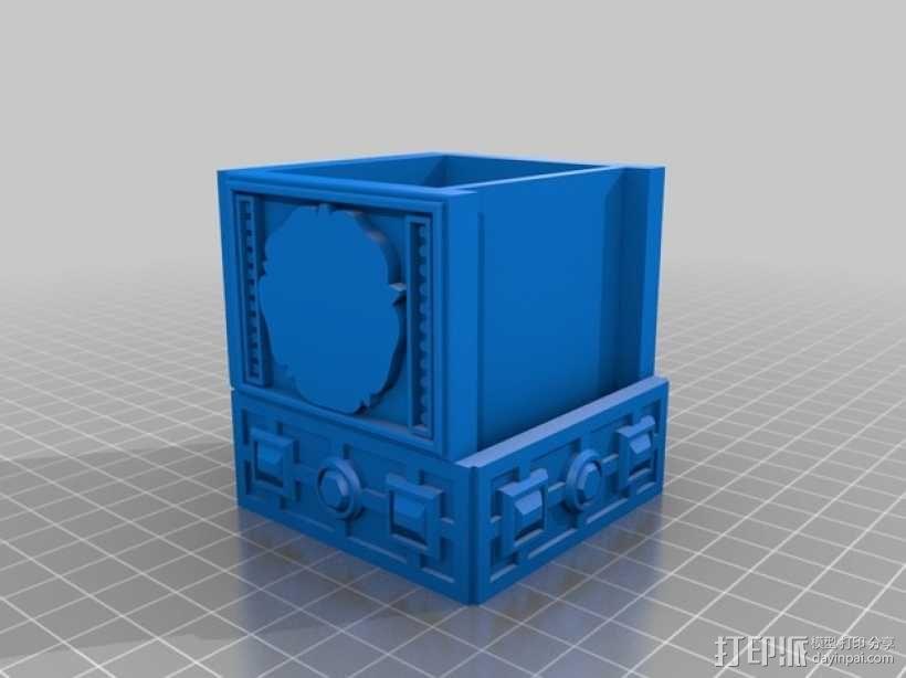 复古小方盒 3D模型  图4