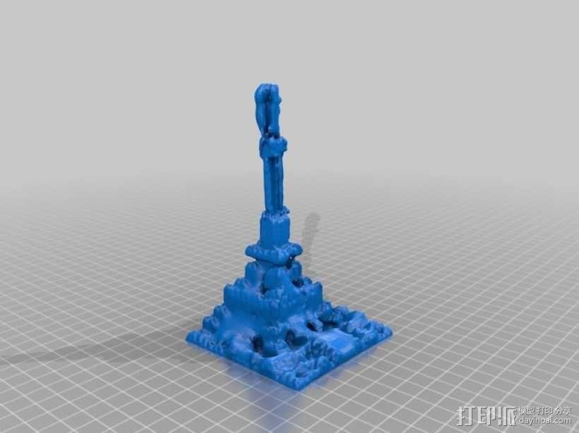 积木塔模型 3D模型  图2