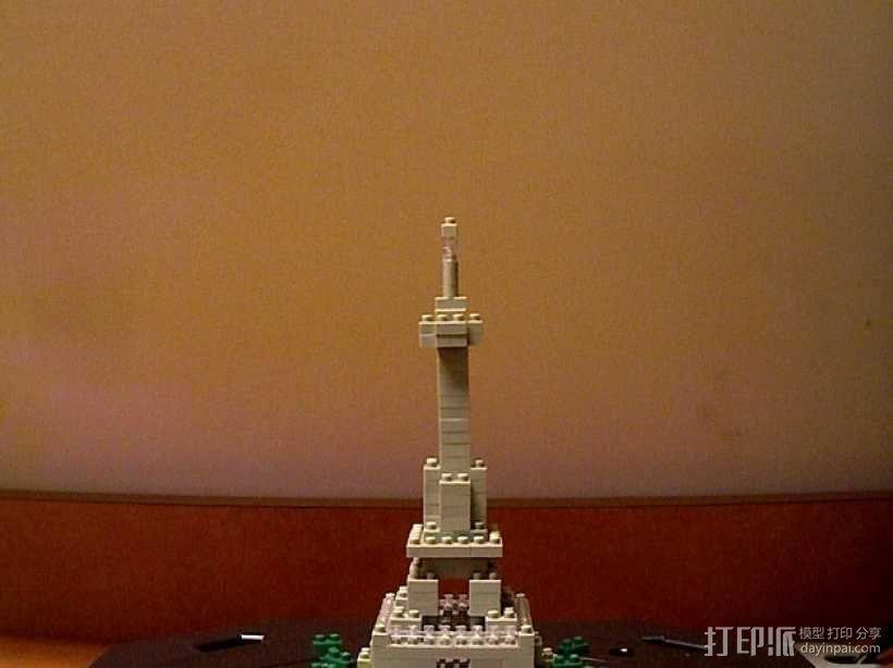 积木塔模型 3D模型  图1