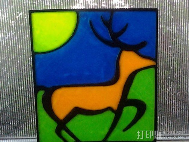 小鹿画板 拼接板 3D模型  图1