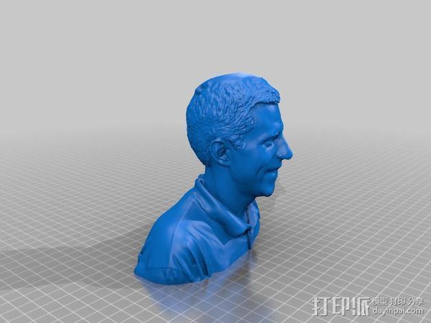 人像雕塑 半身像模型 3D模型  图1