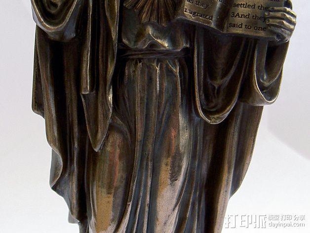 耶稣雕塑 3D模型  图1