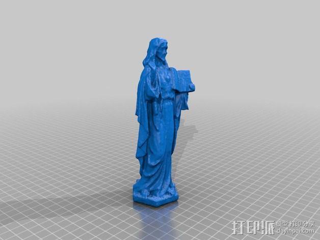 耶稣雕塑 3D模型  图2