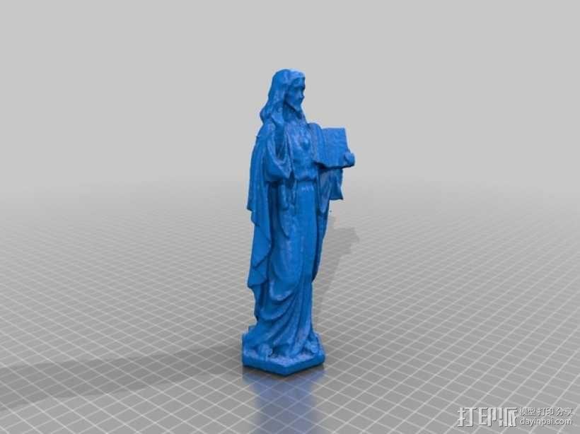 耶稣雕塑 3D模型  图3