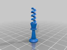 螺旋象棋块 3D模型