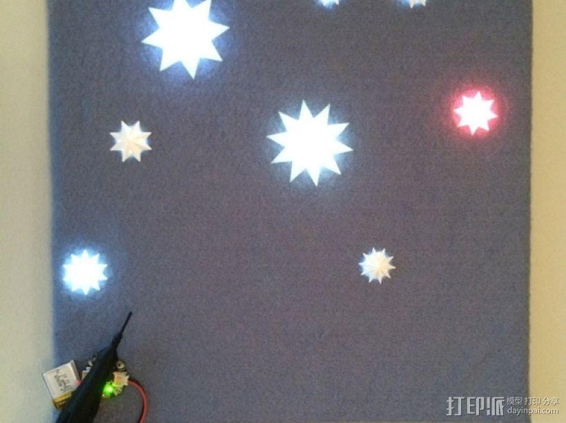 闪亮的星星 3D模型  图1