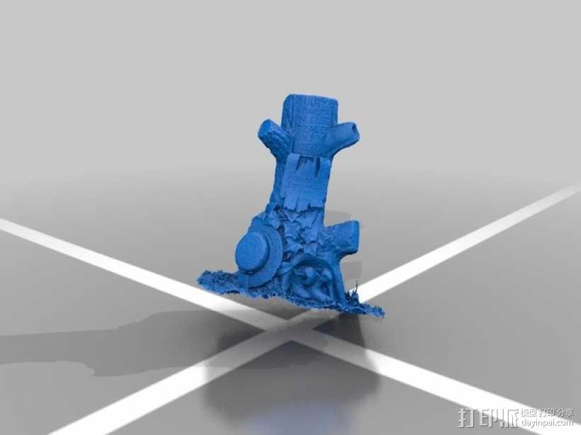 树形墓碑模型 3D模型  图2
