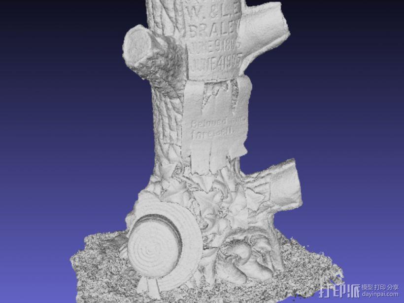 树形墓碑模型 3D模型  图3