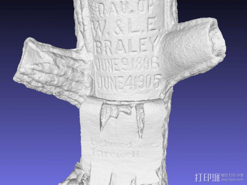 树形墓碑模型 3D模型  图5