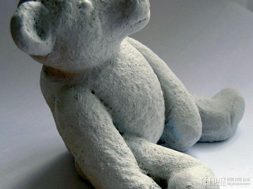 泰迪熊玩偶 3D模型  图1