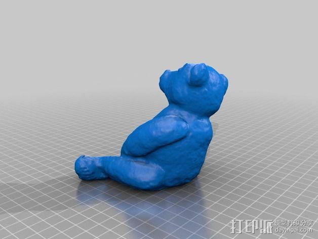 泰迪熊玩偶 3D模型  图2