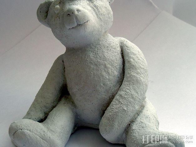 泰迪熊玩偶 3D模型  图4