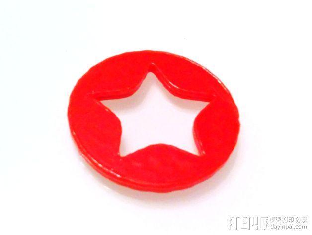 星星徽章 硬币 3D模型  图1