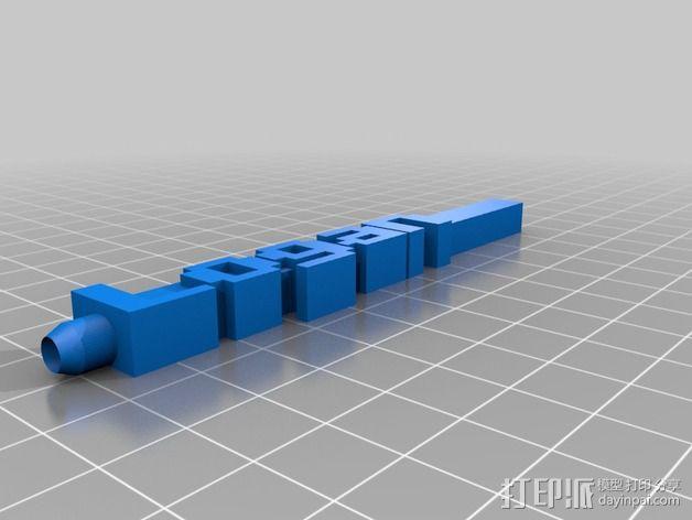 Logan字母模型 笔套 3D模型  图1