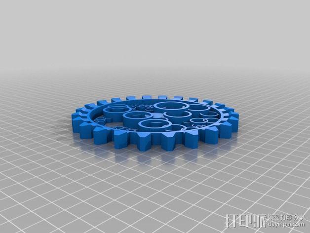 透明齿轮 3D模型  图2