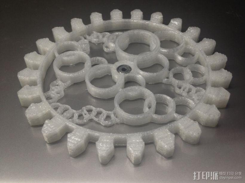 透明齿轮 3D模型  图1